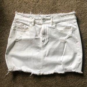 Express white jean skirt size 6